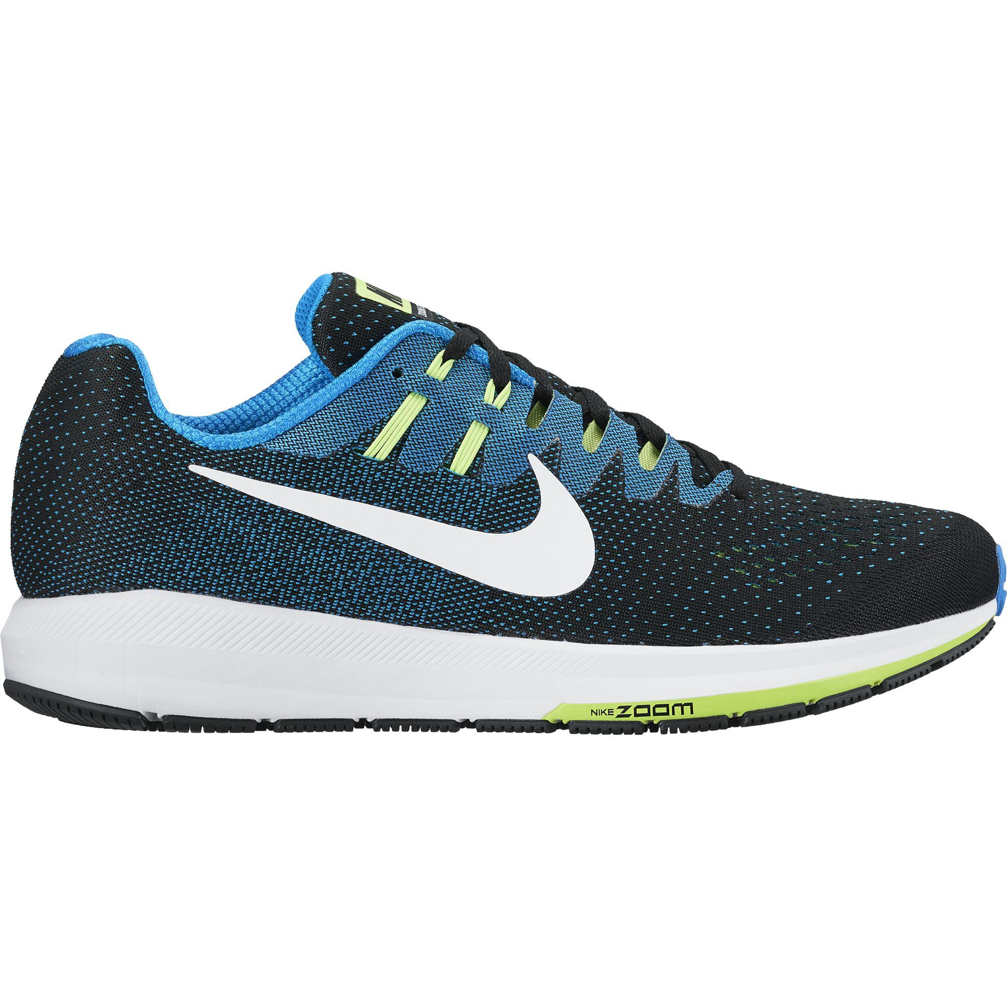 Womens Nike Air Zoom Structure 19 Blue Black White Running Shoes Z42775