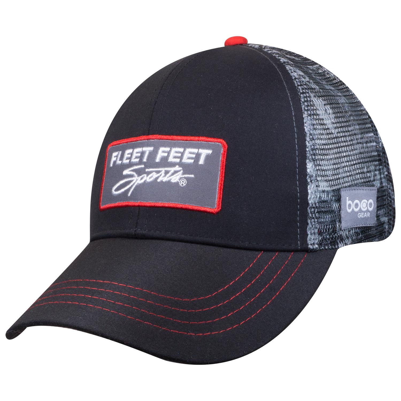 c73acd358 BOCO Gear/Fleet Feet Sports Technical Trucker Hat